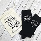 "Father of the Bride Socken ""For the Best Walk of my Life"" mit Geschenkbeutel, personalisiert"