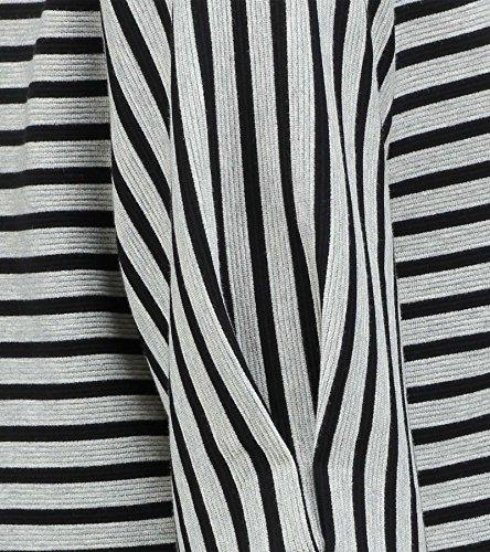 Expresso Roxy Damen-Top Aus Ripp-Jersey mit Streifenmuster Hellgrau gemischt