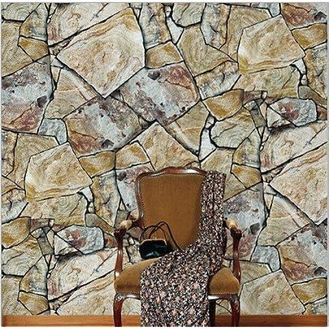 FUMIMID Carta da parati hotel ristorante veranda soggiorno TV sfondo muro roccia pietra tappezzeria di marmo cinese