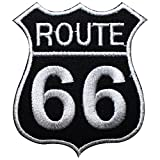 Route 66 USA Chopper Embroidered Iron on Patch oder Nähen Kostüm T Shirt Tasche Jacke Badge
