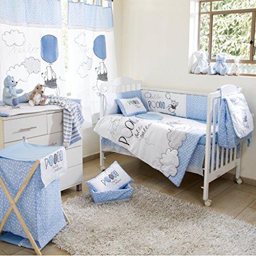 Baby Bedding Design Bleu Winnie l'Ourson Play Crib Bedding Parure de lit 5 pc Parure de Berceau