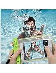 Yuelu 4 Packs; IPX8 estuche impermeable, durable bolsa seca subacuática, sensible al tacto Windows transparente, hermético sistema sellado para iPhone 6s / 6s plus / 5s / SE y otros Smartphone para paseos en bote / senderismo / natación / buceo