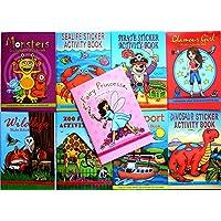 12 x Assorted Mini Activity Colour Sticker A6 Books Children Party Bag Fillers