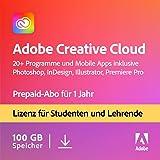 Adobe Creative Cloud All Apps   Student und Teacher   1 Jahr   PC/Mac   Download