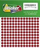 714 Klebepunkte, 10 mm, rot, aus PVC Folie, wetterfest, Markierungspunkte Kreise Punkte Aufkleber