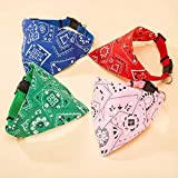 #6: Sri Adjustable Neck Scarf Neckerchief Collar Bandana For Dogs Puppy Cats & Kitten - Colour May Vary
