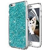 OKZone Coque iPhone 6S Plus,Coque iPhone 6 Plus, Mince Étui en Silicone Souple Paillette Strass Brillante Glitter de Luxe,TPU Housse Etui de Protection pour Apple iPhone 6 Plus/iPhone 6S Plus (Vert)