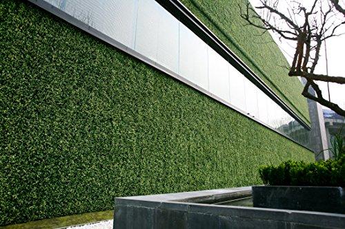 Greensmart Décor Künstliche Buchsbaum Ficus 50,8x 50,8cm Greenery Mats, Set von 4