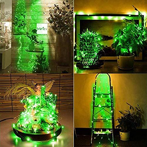 TianranRT 1Pcs a forma di sughero LED Night Light Starry Light Bottiglia di vino lampada per la decorazione del partito,Stringa di luce a stringa di rame con 1,5 m di 15 led,verde
