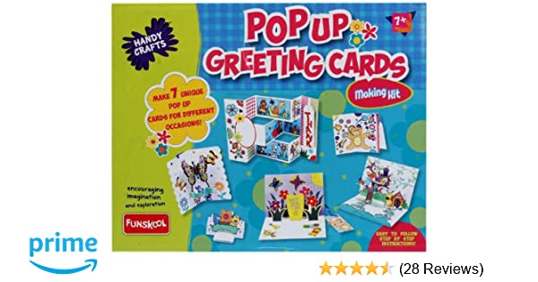 Funskool Handy Crafts Pop Up Greeting Cards Multi Color Amazonin Toys Games