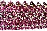 b2see purpurina cenefa sari ribete Flores Punta Plástico bordado de ancho ropa para confeccionar Colores Colores