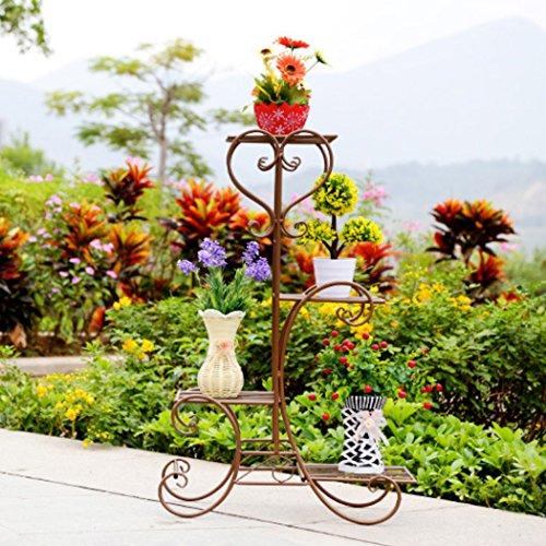 Unbranded Malayas Estanteria para Macetas Soporte Macetas Plantas Metálico Escalera Estantería Decorativas de Plantas Flores para Decoración Exterior Interior Jardín Baño de 4 Pisos