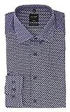 OLYMP Herren Business- und Freizeithemd mit New Kent Kragen Luxor Modern Fit Viola Violett mit Muster, Größe:37