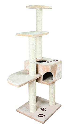 trixie alicante scratching post height 142cm cat scratching tree amazoncouk pet supplies