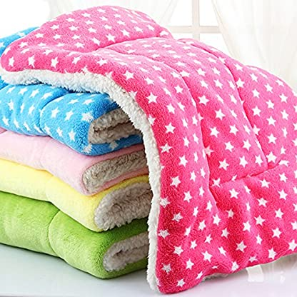 Micat® Super Soft Fleece Pet Bed Blankets Puppy Dog Cat Cushion Mats Vary from 9 Kinds of Designs (M: 55*42cm, 009) 4