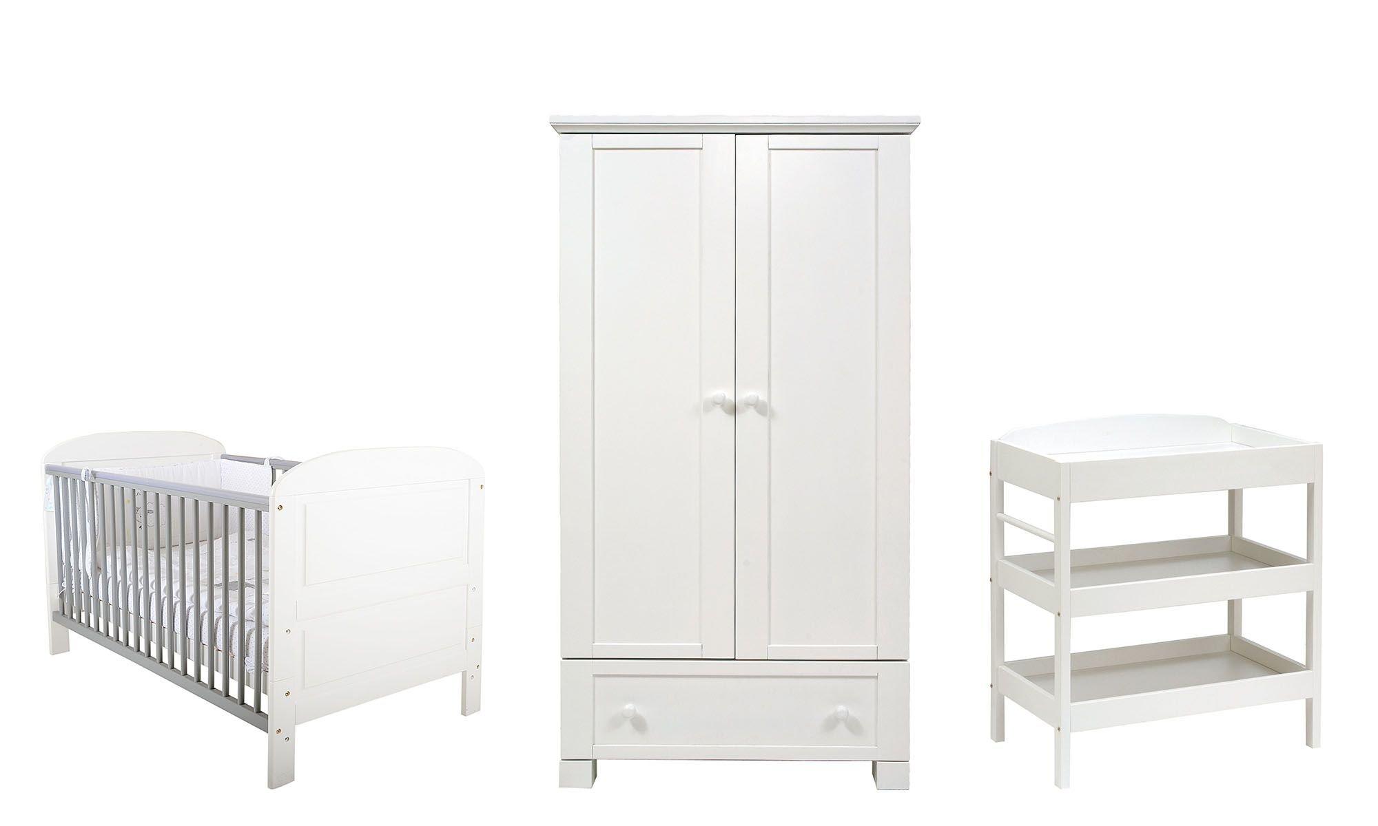 East Coast Nursery Furniture Set, 7464CM, 3-Piece East Coast Nursery Ltd Angelina cot bed Clara dresser Montreal wardrobe 1