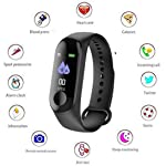 Ezip M3 Intelligence Bluetooth Health Wrist Smart Band Watch (Black)