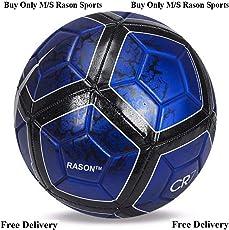 RASON Blue CR-7(3 Ply PVC; Size- 5) Replica Football
