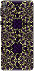 The Racoon Lean printed designer hard back mobile phone case cover for Sony Xperia E5. (Violet Abs)
