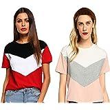 JUNEBERRY Women's Cotton T-Shirt-Pack of 2