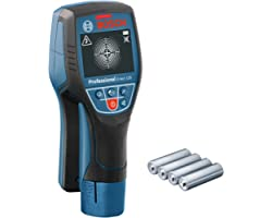 Bosch Professional Wandscanner D-Tect 120 (4X Aa Batterij, Max. Detectiediepte Kunststof Buizen/Houten Stijlen/Stroomleiding/