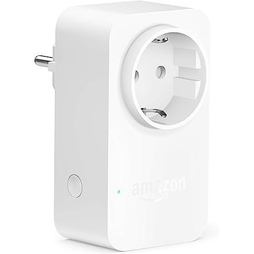 Amazon Smart Plug (presa intelligente con connettività Wi-Fi),compatibile con Alexa, Dispositivo Certificato per gli umani
