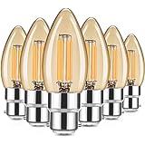 Bombilla vintage, Fulighture Bombilla LED B22, Color blanco cálido 2700 K, 4W equivalentes a 40W, 400 lúmenes, Ideal para nos