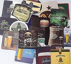 Idea Regalo - Sottobicchieri da birra in cartone, set da 25, souvenir dall'Irlanda
