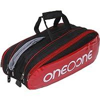 One O One - Pro Collection Four Compartment Black + White Print Racket KitBag (Badminton/Tennis)