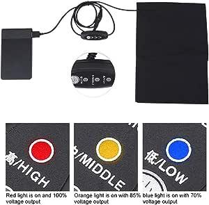 6509 Elektrische Heizkissen Wärmerkissen USB Schwarz Weste Kleidung Für