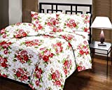 #10: Renown Pretty Pink Floral Attractive Design Reversible Double Bed Quilt / AC Blanket / Dohar ( Pack Of 1 Pc )