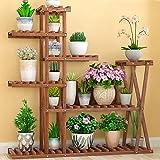 YQQ Lagerregal Mehrschicht-Blumenständer Aus Holz Balkon Blumentopf Regal Bonsai Regal Pflanzenregal Drinnen Draußen Halterung Wohnzimmer (Farbe : A)
