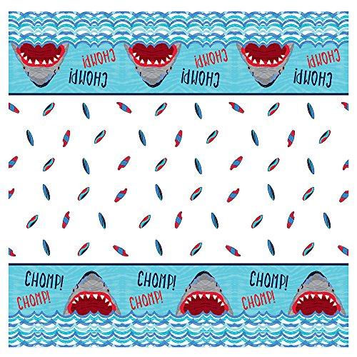 Shark Party Kunststoff Tischdecke, 7ft x 4.5ft ()
