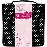 docrafts Papermania Stamp and Die Black Polka Dot Storage Case with 10 Pockets Containing Magnetic Sheets