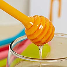 SpiderJuice Creative High Five SOS Helping Hand Shaped Honey Dipper Stirrer Spoon (Random Color)
