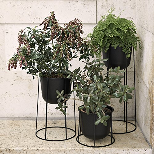 Menu 4774539 Blumen-/Pflanztopf, Metall, schwarz, 23 x 23 x 17 cm - 4