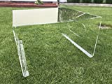 Mähroboter - Garage - Überdachung für Rasenroboter aus Acryl (5mm) - 69 x 69 x 40 cm - fertig montiert - witterungsfest