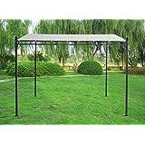 Greenbay 3x3m Metal Wall Gazebo Awning Canopy Pergola Shade Marquee Shelter