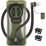 Hydration Bladder 2L Leakproof 2 Liter Water Reservoir, BPA Free Military Green Water Storage Bladder Bag with Insulated Tube