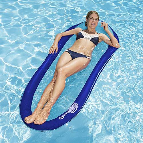 Swimways - amaca galleggiante gonfiabile - materassino mare - poltrona piscina - lettino con rete - per adulti - vari colori