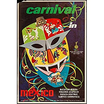 Vintage Mexican Carnival Tourism Poster  A3 Print