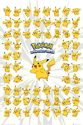 empireposter-728807-Pokemon–Pikachu–Anime-Parte-Pster-Papel-Multicolor-915-x-61-x-014-cm