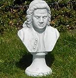 Unbekannt Beton Figur Büste Johann Sebastian Bach H 26 cm Statue und Skulptur aus Beton