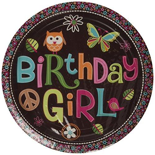 Amscan 9Zoll International Hippie Chick Geburtstag Teller