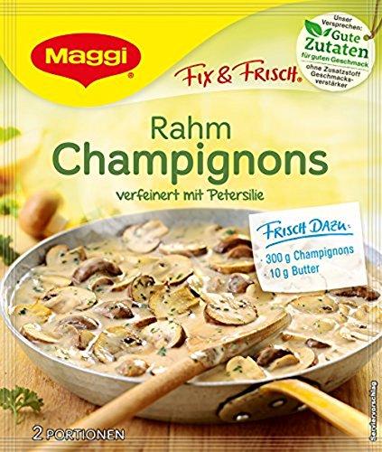 Maggi Fix und Frisch für Rahm Champignons, 40 g (Knoblauch-butter-reis)