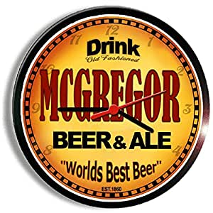 MCGREGOR bière and ale cerveza Horloge murale
