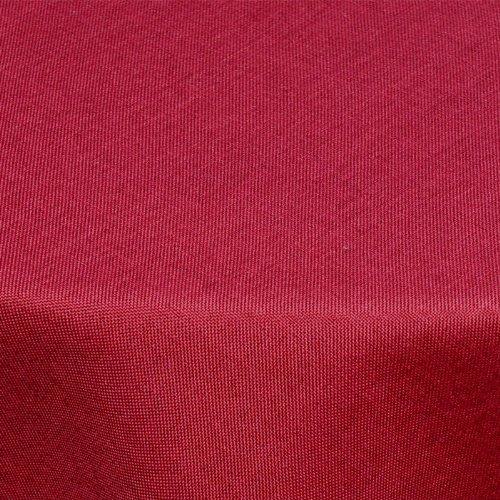 Textil Tischdecke Leinen-Optik 160cm rund mit FLECK-Schutz bordeaux *abwaschbar* Farbe wählbar