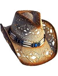 Running Bear - Sombrero de cowboy - para mujer beige Beige/Braun