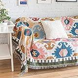 AFAHXX Retro Sofa Überwürfe Volle Deckung,Dekoration Indisch Sofabezug für Sofa Quaste Jacquard Sofa Abdeckung-A 160x220cm(63x87inch)