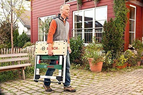 Bosch DIY PWB 600 Arbeitstisch, 4 Spannbacken, Karton (max. Tragfähigkeit 200 kg, Arbeitshöhe 834 mm, max. Spannbreite mit Klemme 525 mm) - 3